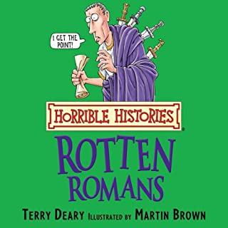 Horrible Histories: Rotten Romans audiobook cover art