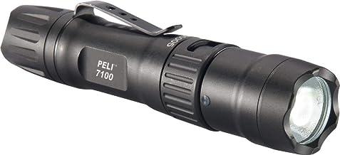 PELI 7100: Krachtige oplaadbare tactische USB-led-zaklamp, IPX8 waterdicht, 695 lumen, kleur: zwart