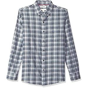 Men's Slim-Fit Long-Sleeve Plaid Brushed Heather Shirt
