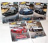 Hotwheels Fast & Furious Juego completo de 5 coches Real Riders Vehículos coleccionables escala 1:64