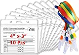 Vaccination Card Protector   Vaccine Card Holder Waterproof, 10 Pcs Pack, Clear Vinyl CDC Covid Immunization Card Case & Cover, Plastic Sleeve, Resealable Zip, Badge 4x3 Inches