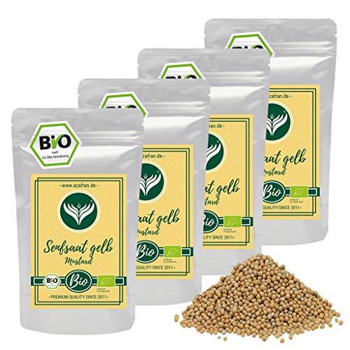 Azafran BIO Senfsaat gelb Senfsamen / Senfkörner zum Senf herstellen 1kg
