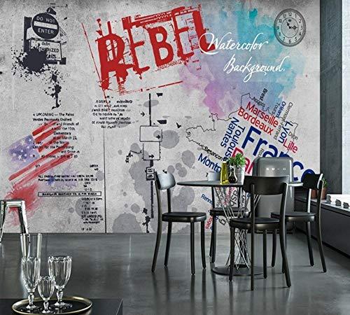 HDOUBR Decoration Mural Street Graffiti Concrete Wall Grey Wallpaper Wallpaper Bedroom Tapeta 3d Do Sypialni@200x140_cm_(78.7_by_55.1_in_)_