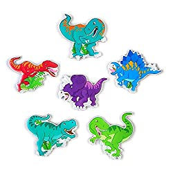 6. MORCART Cartoon Dinosaur Figure Fridge Magnets (6 pieces)