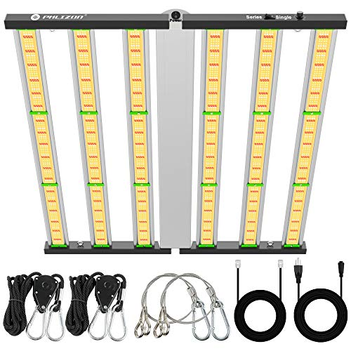Phlizon Newest FD6500 Plant Led Grow Light for Indoor Plants 6x6ft Coverage Full Spectrum Grow Light Daisy Chain Dimmable 2.9 µmol/J LEDs Veg and Bloom