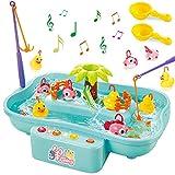 GOLDGE Angeln Spielzeug Badespielzeug Badewannenspielzeug Wasserspiel mit Elektrischer...