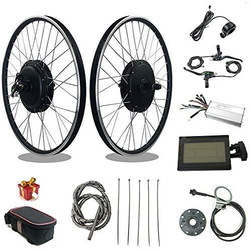 RICETOO Kit de conversión de Bicicleta eléctrica 48V 1000W 20