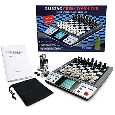 ICORE Electronic Travel Magnetic Talking Chess ...