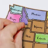 Scratch Off Map of The United States - Fun 'Learn The 50 States' Maps for Kids - USA Oversized Watercolor Pastel Travel Tracker Map - Gift - Where I Have Been Maps - Great at Home Learning Tool