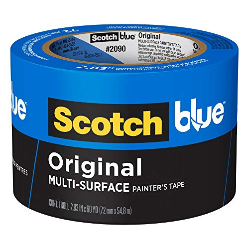 3M 2090-72A Scotch 2090 Painters Tape: 2.83 x 60 yd, Blue