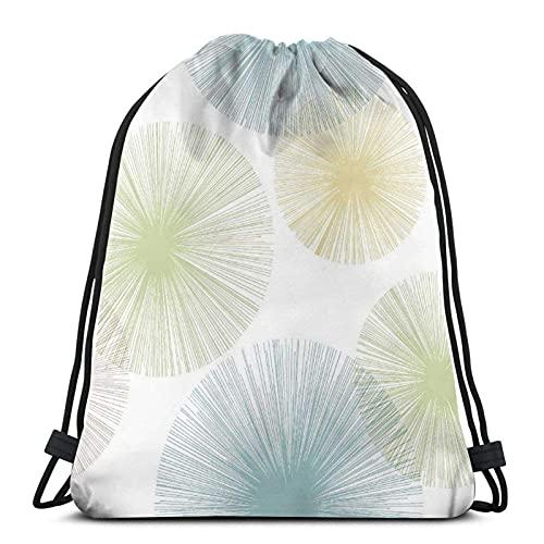 Lmtt Mochila con cordón, gimnasio deportivo, mochila, bolsa de viaje, diente de león colorido sobre un fondo blanco.