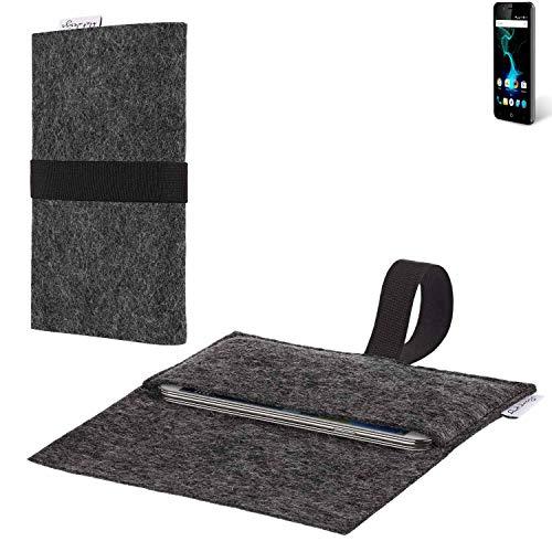 flat.design vegane Handy Hülle Aveiro für Allview P6 Pro passgenaue Filz Tasche Case Sleeve Made in Germany