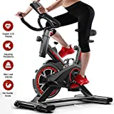 Excersize Bike, Indoor Cycling Bike Smooth Quiet Driven Genou Protection, Spin Cycles Excercise Machines For Home Fitness Training With Adjustable Aimant Resistance, Monitor Reads Speed Distance T