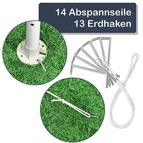 ArtLife Partyzelt 3x6 m grau mit 6 Seitenwände – Pavillon wasserabweisend & stabil – Festzelt für Garten, Terrasse, Party - Bierzelt - 7