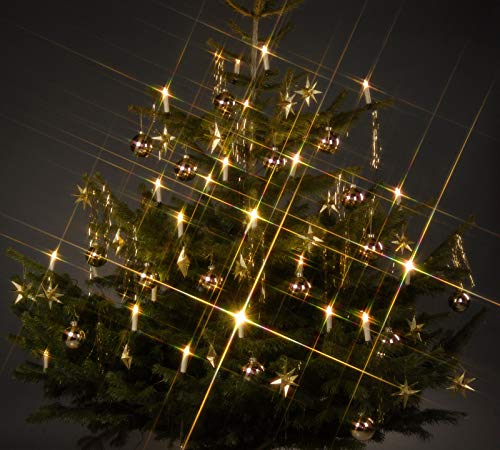 Trango TG340146 24x LED Weihnachtskerzen mit Stecksystem Innenbereich weiß leuchtend