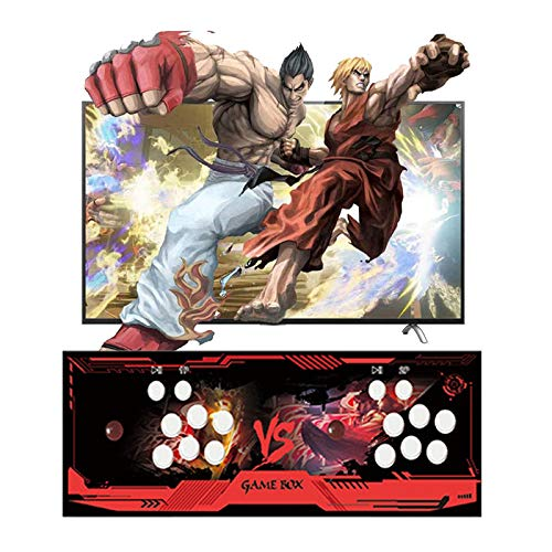 TANCEQI Arcade Machine 2323 Juegos clásicos, Pandora Box 12S con 2323 Juegos Consola Maquina Arcade Video Gamepad con 2 Joystick Partes, para PC/Laptop/TV/ PS3