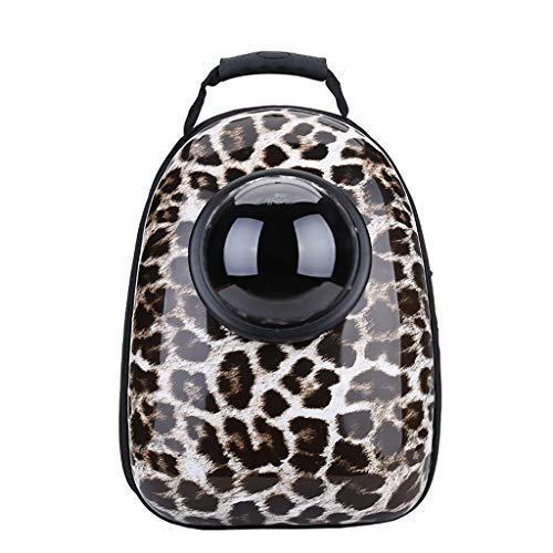 YT- Pet Backpack Supplies Best Portable Travel Bubble Capsule Space Backpack Carrier for Small Dogs and Cat Pet Bag (Color : Leopard Print)