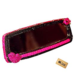Rose Red Rhinestone Car Wide Angle Rear View Mirror