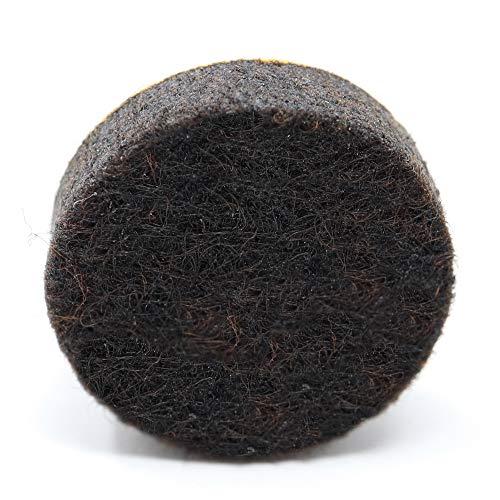 Adsamm Adsamm® | 16 x Filzgleiter | Ø 18 mm | Braun | rund | 5.5 mm Starke Selbstklebende Möbelgleiter in Premium-Qualität