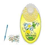 TQXYWL 100 bolas trituradas de menta se utiliza para insertar el filtro, 8 sabores están disponibles, bola triturada de menta, cápsula con sabor, Limón, S,