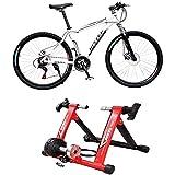 LNDDP Vélo d'intérieur Pliant Magnétique Turbo Trainer Exercice Fitness Training Indoor Stationary Exercise Stand Frame Fitness Réglable Utilisez Votre vélo comme Un vélo d'exercice Cycle Cycle