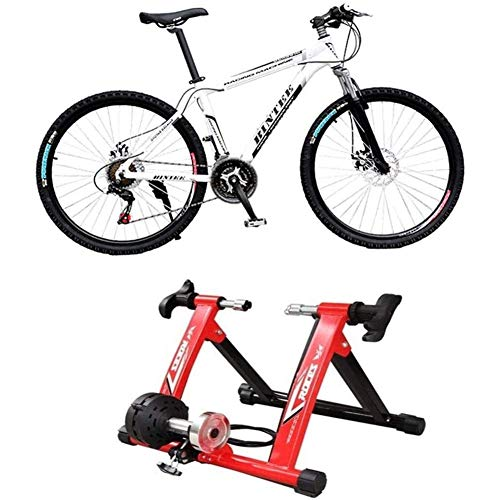 WYJW Zusammenklappbare Indoor-Bikes Magnetischer Turbo-Trainer Übung Fitness-Training Indoor Stationäre Übung Standrahmen Fitness Einstellbar Verwenden Sie Ihre Fahrräder als Heimtrainer Fahrrad