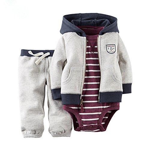 Odziezet Baby Kleidung Set Jungen Romper Langarm Sweatjacke Mädchen Outfits Hoodie Kombination 3-18 Monate