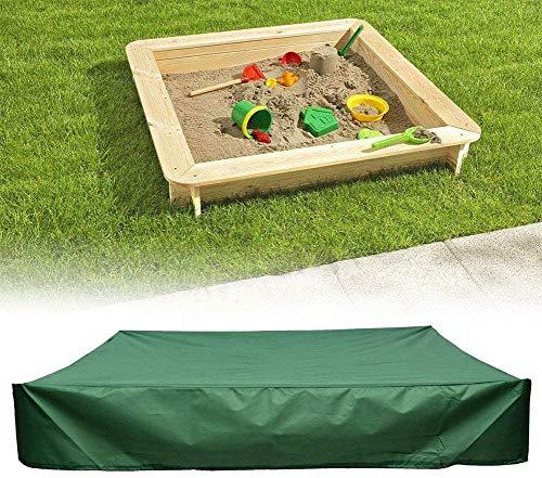 Cubierta de arenero, cubierta cuadrada a prueba de polvo, cubierta de arenero de protección con cordón, cubierta impermeable para alberca, evita la contaminación de la arena y los juguetes.