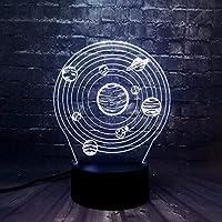 3D照明カラフルなタッチLEDナイトライト3Dテーブルランプ視覚装飾ギフト-惑星