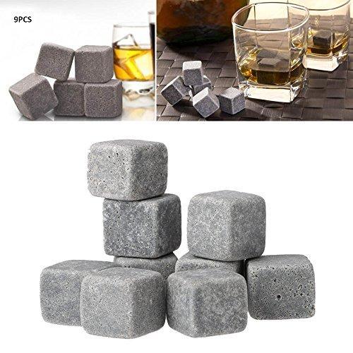 Anself 9er Set Whiskey-Steine aus natürlichem Speckstein - 3