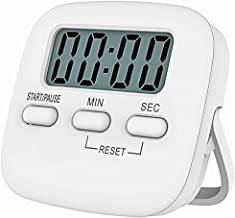 Kitchen Timer, Digital Screen Countdown Timer with Loud Alarm, Auto-Off, Magnetic Stopwatch Portable Digital LCD Display C...