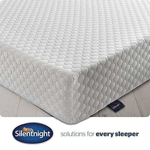 Silentnight 7 Zone Memory Foam Rolled Mattress, Made in the UK, Medium Firm, Double(Packaging may vary)