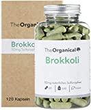 Einführungspreis: TheOrganical® Brokkoli Kapseln | 50mg Sulforaphan pro Kapsel (10%) | 120 Kapseln mit 500mg natürlichem Brokkoli Extrakt | Made in Hamburg
