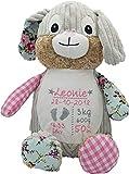 Cubbies Stofftier Teddy Bär, Einhorn, Rentier, Hase, Giraffe, Tiger, Elefant Geschenk mit Namen und...