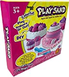 Dynamic Play Sand Art Arts and Crafts for Kids Colored Sand Magic Sand Multi Color Combo Kit Play Sand with Castle Molds Containers | Stress Relief Toys for Kids and Adults | Party Favors