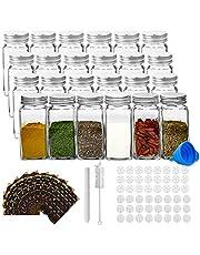 RUBY Kruidenpotjes Vierkant Glas Spice Jars Set Kruidenpotjes Kork 120ml Kruidenpotjes Glas Vierkant Voor Keuken