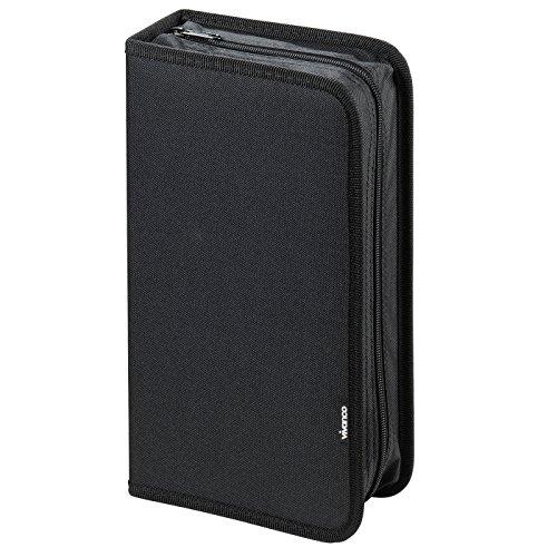 Vivanco CD/DVD-Tasche Oxfort Nylon, Blue-ray Case, Wallet, Ordner für 96 CDs schwarz