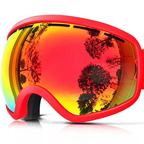 ZIONOR Lagopus X10 Rahmen/Rahmenlos Snowboard Skibrille mit Abnehmbar PC Linse 100{ee2e1db3d9684bc15753b2ab91d58cb811c9f624e133d11b48eaed0733624c49} UV400 Schutz Anti-Fog Periphere Anzeigen mit Fixpunkt Anti-Rutsch