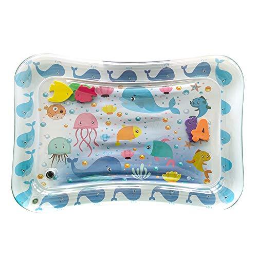 Almohadilla de hielo para bebés, permite el aprendizaje de juguetes de PVC de colores brillantes Colchoneta de agua para bebés, colchoneta de vida marina 19.7 * 27.6 pulgadas Almohadilla de