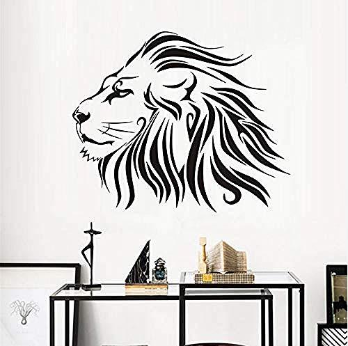 Persoonlijkheid Muurstickers Leeuw muur Stickers Beest Koning Muurstickers Dier Huisdecoratie Vinyl Afneembare Woonkamer Decoratie muurschildering 53X44Cm