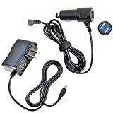 (Taelectric) Car Charger + AC/DC Wall Adapter Cord for Rand McNally GPS 7 RV TND Tablet 70 80