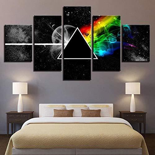 Olydmsky Cuadros dormitorios modernos,Pintura mural Arte de la pared para la vida, Pink Floyd banda de inyección de tinta pintura equipo de inyección de tinta pintura pintura decorativa base
