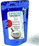 Sales Epsom Puras - Magnesio Natural  Eliminar las toxinas y metales pesados  250g  Exfoliante Facial y Corporal 100% Natural  Sulfato de Magnesio Puro Grado Alimentar Multiusos -