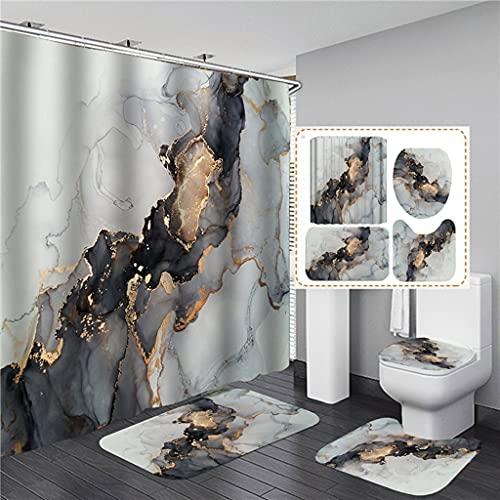 QWNHU DuschvorhangKreative frische Früchte Orange Apfel Kunst Winddicht Duschvorhang Badezimmer Dekor Heimtextilien