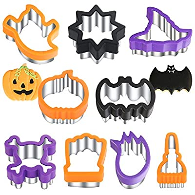 Halloween Cookie Cutters - 9 Pieces -Holiday Co...