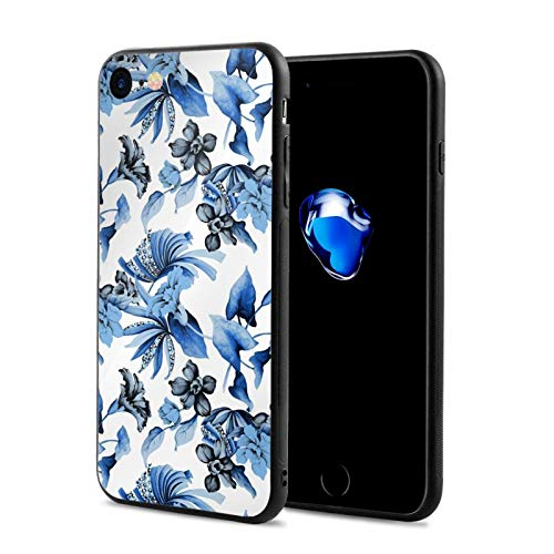Compatible with iPhone 7 iPhone 8 Series Case Watercolor Flower Leaves for iPhone 7/iPhone 8 5.5inch