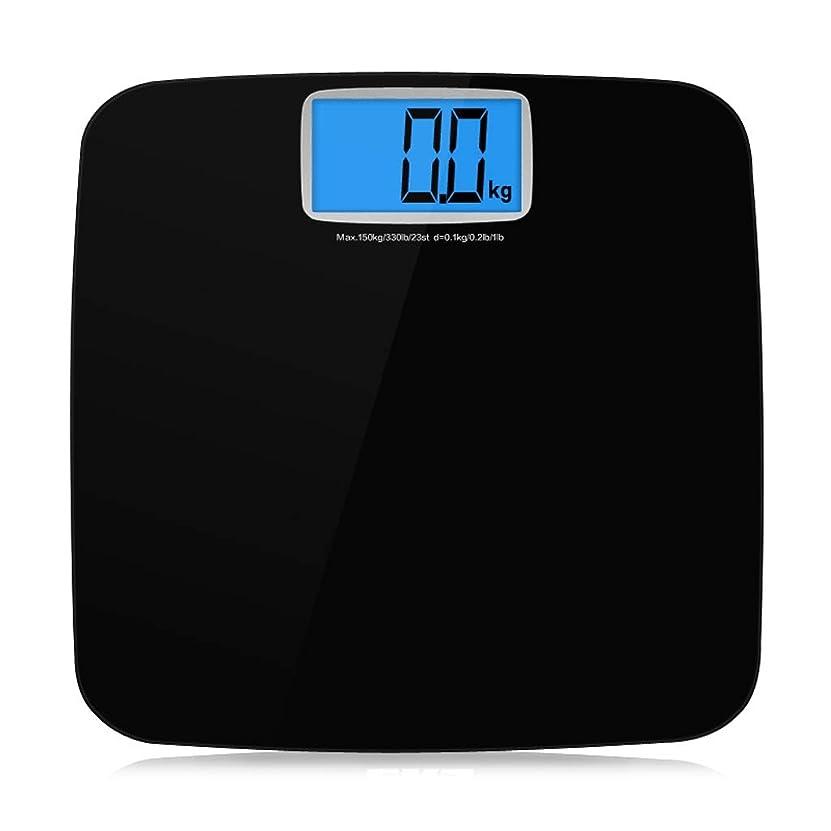 高揚した本質的ではないプレート体重計、商業用電子天秤ばかり、家庭用体重計、成人、正確な体重減少、健康 ZHJING (Color : Black)