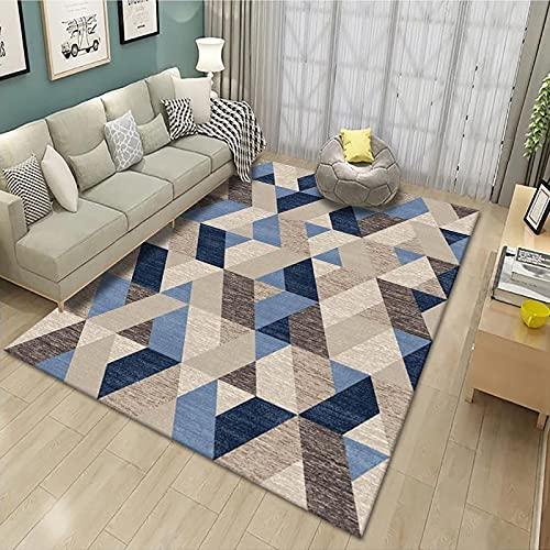 Modern Geometric Irregular Printing Carpet Thick Waterproof And Oil-Proof Floor Mat Suitable For Bay Window Hotel Bedroom