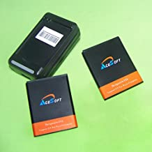 2X 1900mAh Replacement Battery for Cricket/Boost Mobile HTC One SV LTE + Desktop Charger