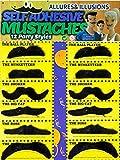 12-teiliges Set falscher Schnurr-Bart Klebebärte zum Ankleben in schwarz für Erwachsene & Kinder...